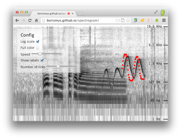 Screenshot of spectrogram